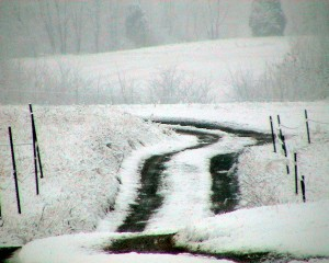 Snow Covered Country Lane